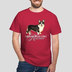 Cardigan Welsh Corgi Rescue Dark T-Shirt