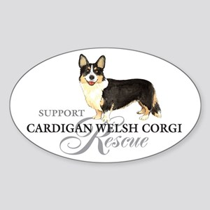 Cardigan Welsh Corgi Rescue Oval Sticker