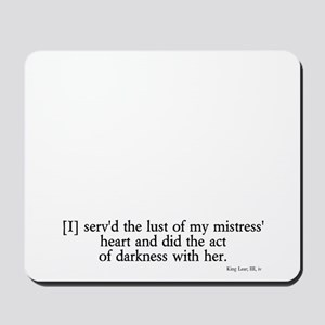 act of darkness Mousepad