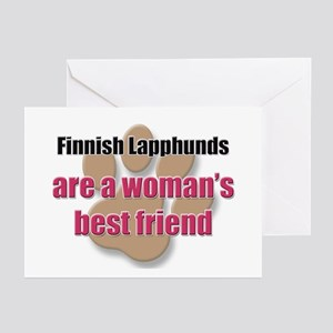 Finnish Lapphunds woman's best friend Greeting Car