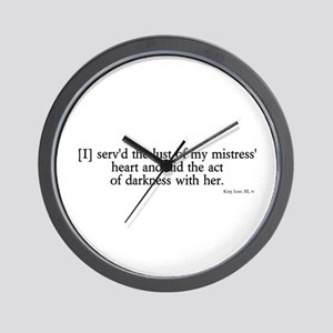 act of darkness Wall Clock