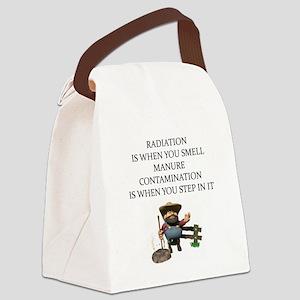 pkysics joke Canvas Lunch Bag