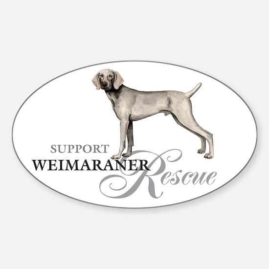 Weimaraner Rescue Oval Decal