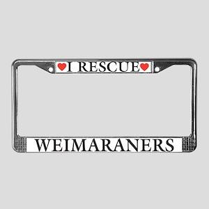 Weimaraner Rescue License Plate Frame