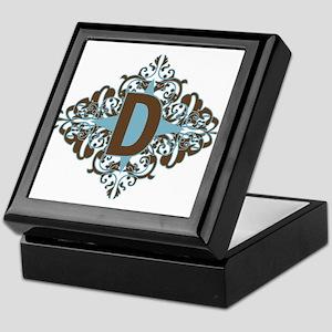 D Monogram Letter D Keepsake Box