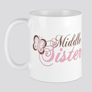 Pink Butterfly Middle Sister Mug