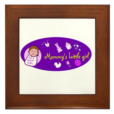 mommy's little girl Framed Tile