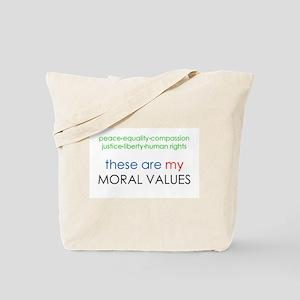 Real Moral Values Tote Bag