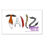 Tailz Rectangle Sticker 10 pk)