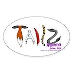 Tailz Oval Sticker (50 pk)