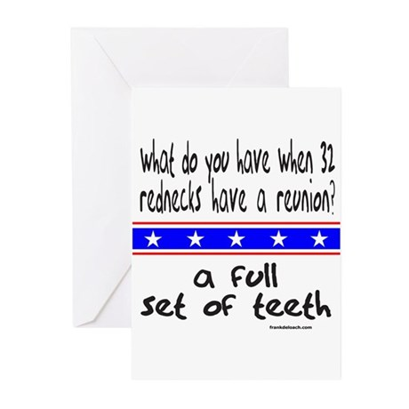 REDNECK REUNION Greeting Cards (Pk of 10)