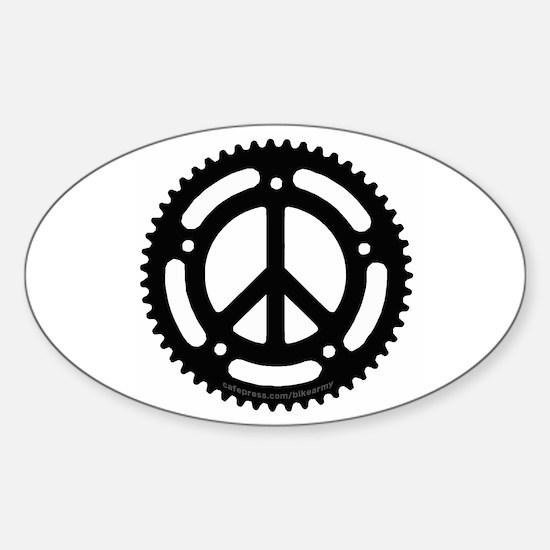 Peace Chainring sticker