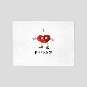 i love physics 5'x7'Area Rug