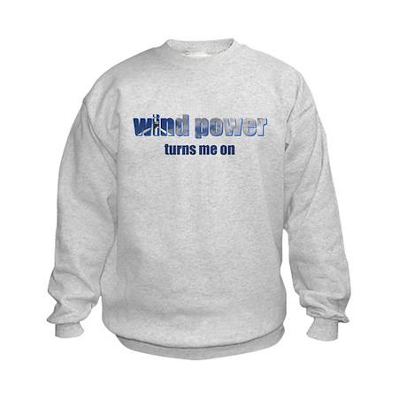 Wind Power Kids Sweatshirt