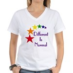 """Different Is Normal"" Women's V-Neck 9"