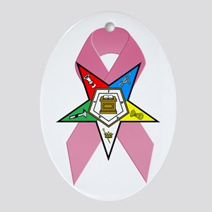 OES Breast Cancer Awareness Oval Ornament