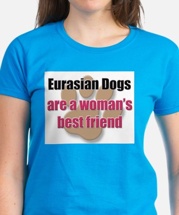 Eurasian Dogs woman's best friend Women's Dark T-S