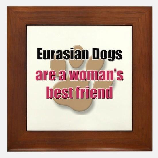 Eurasian Dogs woman's best friend Framed Tile