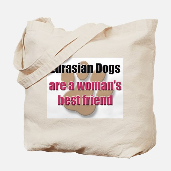 Eurasian Dogs woman's best friend Tote Bag