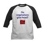 Do Vegetarians Give Head? Kids Baseball Jersey