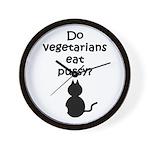 Do Vegetarians Eat Pussy? Wall Clock