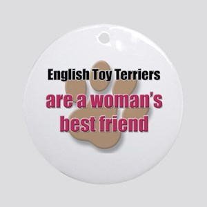 English Toy Terriers woman's best friend Ornament