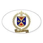GAGNON Family Crest Oval Sticker