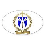 DUBE Family Crest Oval Sticker