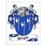 Wright Family Crest Small Poster