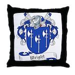 Wright Family Crest Throw Pillow