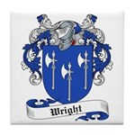 Wright Family Crest Tile Coaster
