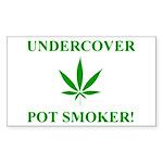 Undercover Pot Smoker Rectangle Sticker 10 pk)