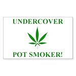 Undercover Pot Smoker Rectangle Sticker 50 pk)