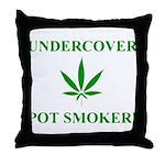 Undercover Pot Smoker Throw Pillow