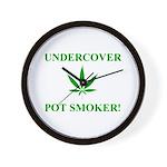 Undercover Pot Smoker Wall Clock