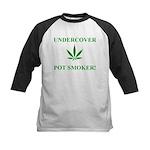 Undercover Pot Smoker Kids Baseball Jersey