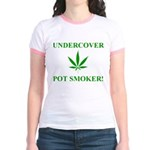 Undercover Pot Smoker Jr. Ringer T-Shirt