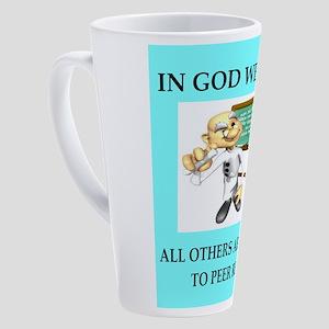 in god we trust 17 oz Latte Mug