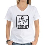 Must Be This Big To Ride Women's V-Neck T-Shirt