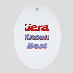 Kieran Knows Best Oval Ornament