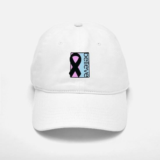 Pink and Blue (Believe) Ribbon Baseball Baseball Cap