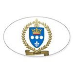 DUPUIS Family Crest Oval Sticker