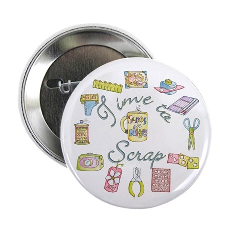 """Time to Scrap by Leah 2.25"""" Button (100 pack)"""