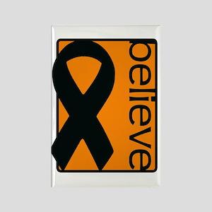 Orange (Believe) Ribbon Rectangle Magnet