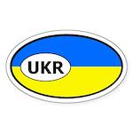 Ukraine Flag Oval Sticker