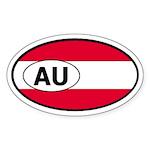 Austria Flag Oval Sticker