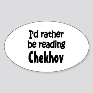 Chekhov Oval Sticker
