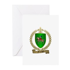 FOURNIER Family Crest Greeting Cards (Pk of 10