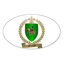 FOURNIER Family Crest Oval Decal