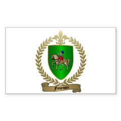 FOURNIER Family Crest Rectangle Decal